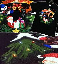 クリスマスTシャツ★ラインストーンがキラキラ【クリスマスTシャツ】【クリスマスリース】【イベント】【Tシャツ】【雪だるま】【サンタクロース】【トナカイ】【スポーツジム】【XS/S/M/L/XL/XXL】【長袖/半袖】【ロンT】【2L/3L】【サイズ】HappyXtmas