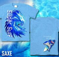サーフボードサーファーTシャツサーフィン夏海Tシャツ波鮫メンズレディースTシャツロングTシャツ長袖/半袖XS/S/M/L/XL/XXL2L/3LSUPERSURFアメカジグラフィティサイズ大きめサイズあり