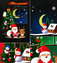 クリスマスTシャツクリスマスリースイベントTシャツ雪だるまサンタクローストナカイスポーツジムプレゼント冬XS/S/M/L/XL/XXL/XXXL長袖/半袖ロンT2L/3L/4L衣装可愛いサイズ【GENJUブランド】XtmasSnow