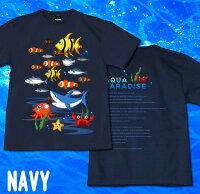 Tシャツ海魚夏半袖長袖タコ魚群物語ティーシャツストリートアメカジサイズ豊富グラフィティAQUAPARADICE