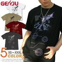 悪魔|羽|翼|ラインストーン|Tシャツ|GENJU