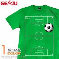 サッカーTシャツサッカーボールスポーツユニフォーム半袖ティーシャツストリートアメカジサイズ豊富グラフィティThefootballfield