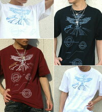 トライバル|鷹|翼|ストリート系|Tシャツ|GENJU