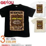 GENJU オリジナルTシャツ メンズ 写真 オリジナル プリント 写真入れ チーム tシャツ ティーシャツ ロンT 半袖 長袖 Who are Wanted ブラック 黒 ナチュラル ホワイト 白 大きめサイズあり XL XXL 2L 3L 4L 90-140cm XS-XXXL