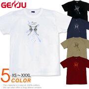 蝶 十字架 Tシャツ