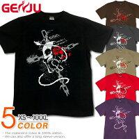 スカル|ドクロ|骸骨|髑髏|ロック系|Tシャツ|GENJU