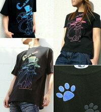 【GENJU】[半袖/ロンT切替可]超可愛い猫柄アメカジTシャツ★MagicalCat[猫柄][カラー×6]