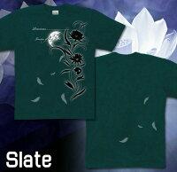 花柄|美麗|月光|Tシャツ|GENJU