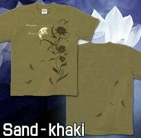 花柄 美麗 月光 Tシャツ GENJU