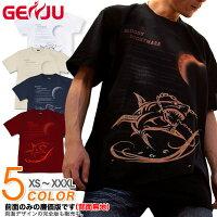 トライバル 鮫 夏 海 Tシャツ GENJU