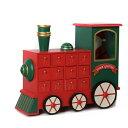 送料無料 カウントダウン アドベントカレンダー サンタ カレンダー汽車 可愛い 木製 クリスマス イベント インテリア HM-1656