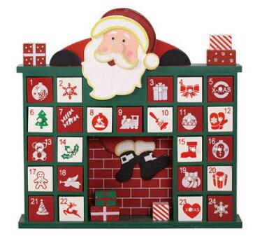 送料無料 カウントダウン アドベントカレンダー サンタ カレンダー 北欧 可愛い 木製 家 ハウス クリスマス イベント インテリア GMS01862 【winter_sp_d】