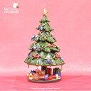 全品ポイント5倍【X'mas】ツリーオルゴール ベア【We wish you a merry christmasオルゴール付き】ツリーが回転します妖精・薔薇 姫【smtb-F】 【HLS_DU】   ギフト対応 あす楽