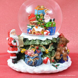 【クリスマス】【LEDで光ります】クリスマスデコレーション【スノードーム】デコレーション動画がご覧いただけます【X'masサンタクロース&スノーマンオルゴール8曲入り】クリスマスツリークリスマスキャロルギフト対応あす楽オルゴール【送料無料】