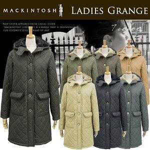 MACKINTOSHマッキントッシュ裏地のボアが暖かいフード付きキルティングジャケット《LADIESGRANGEpolyester》