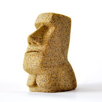 鳥取砂丘モアイZ160g×1個モルタルマジック砂置物オブジェ砂像他のメーカー商品との同梱不可代引不可