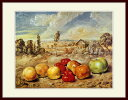 キリコ・「田園風景のなかの果物」