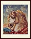 キリコ・「たてがみを風になびかせた白馬の頭部」