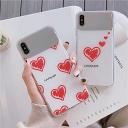 iPhoneケース SE 第二世代 韓国 人気 光沢 ガラス XS XR XSMax 8 8Plus 7 7Plus かわいい おしゃれ 強化ガラス 光沢 鏡面メッキ スマホケース ハート 背面 スリム 軽量 女性 カバー フェミニン 可愛い 保護カバー