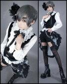 【サイズ有】コスプレ衣装 黒執事 シエル ファントムハイヴ モノクロのキス 豪華セット cosplay コスチューム ab001w1 代引不可 02P09Jul16