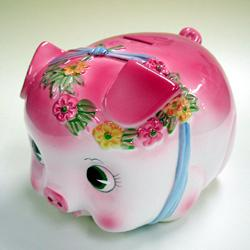 [Piggy Bank] coin money box / extra large, pink