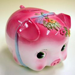 [Piggy Bank] coin money box / large, pink