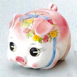 [Piggy Bank] coin money box / medium, pink