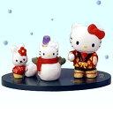 ハローキティ 雪だるま【ハローキティ】キティマンスリーフィギュア「12月師走」雪だるま