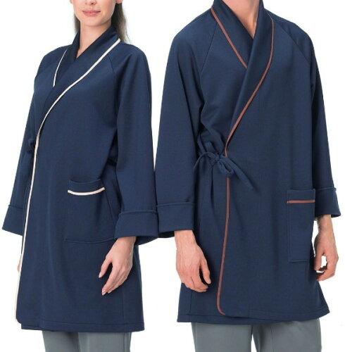 医療白衣 検診衣 患者衣 Naway ナウェイ ナガイレーベン LK-1430 ガウン(男女兼用) M・L