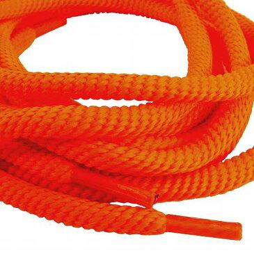 若者の靴ひも 靴紐 丸紐 無地 蛍光 オレンジ 幅6ミリ 長さ110cm ETSR-251 靴紐 おしゃれ シューレース あす楽 メール便OK