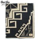 BasShuバッシュウールブランケット153×180ジャガードネイティブ泉大津日本製WoolBlanketチャコールグレー
