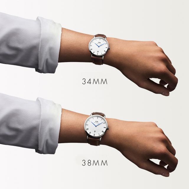 ダニエルウェリントン 正規取扱店 Daniel Wellington 腕時計 メンズ レディース 34mm ダッパー ダラム シルバー ファッション ウオッチ Dapper Durham DW00100114【国内正規品2年保証】【】【ギフト】【P05】