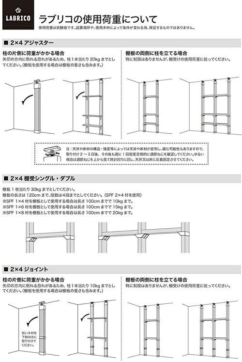 平安伸銅工業LABRICODIY収納パーツ2×4アジャスターブロンズDXB-1