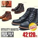 正規取扱店品 CHIPPEWA 6-INCH UTILITY BOOTS チペワ 6インチ ユーティリティー コードバン レザー ショートブーツ メンズ エンジニアブーツ ブーツ