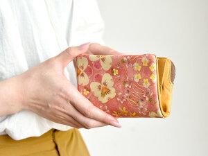 L型L字ファスナー折り財布/二つ折り財布◆ラウンドビオラ≪ピンク≫【送料無料】【HIRAMEKI./ヒラメキ】