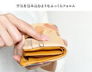 ベロ付き財布◆ラウンドハッピーフラッグ≪ピンク≫【送料無料】【HIRAMEKI./ヒラメキ】