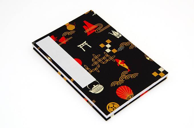 【大判】御朱印帳(納経帖) NIPPON(黒) 蛇腹 朱印帳 納経帳 集印帳 かわいい