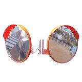 カーブミラー 丸型600φ ステンレス製ミラー2面鏡セット(道路反射鏡)HPLS-丸600W (オレンジ)