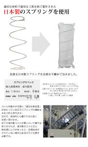 日本製6.5インチポケットコイルマットレス