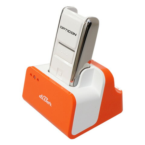 【WEB特価】バーコードデータコレクター OPN-2002i + 充電クレードル(オレンジ)セット(diBar coolCradle Orange)<オプトエレクトロニクス> Bluetooth バーコードリーダー USBハブ機能クレードル OPTO ダイバー diBar