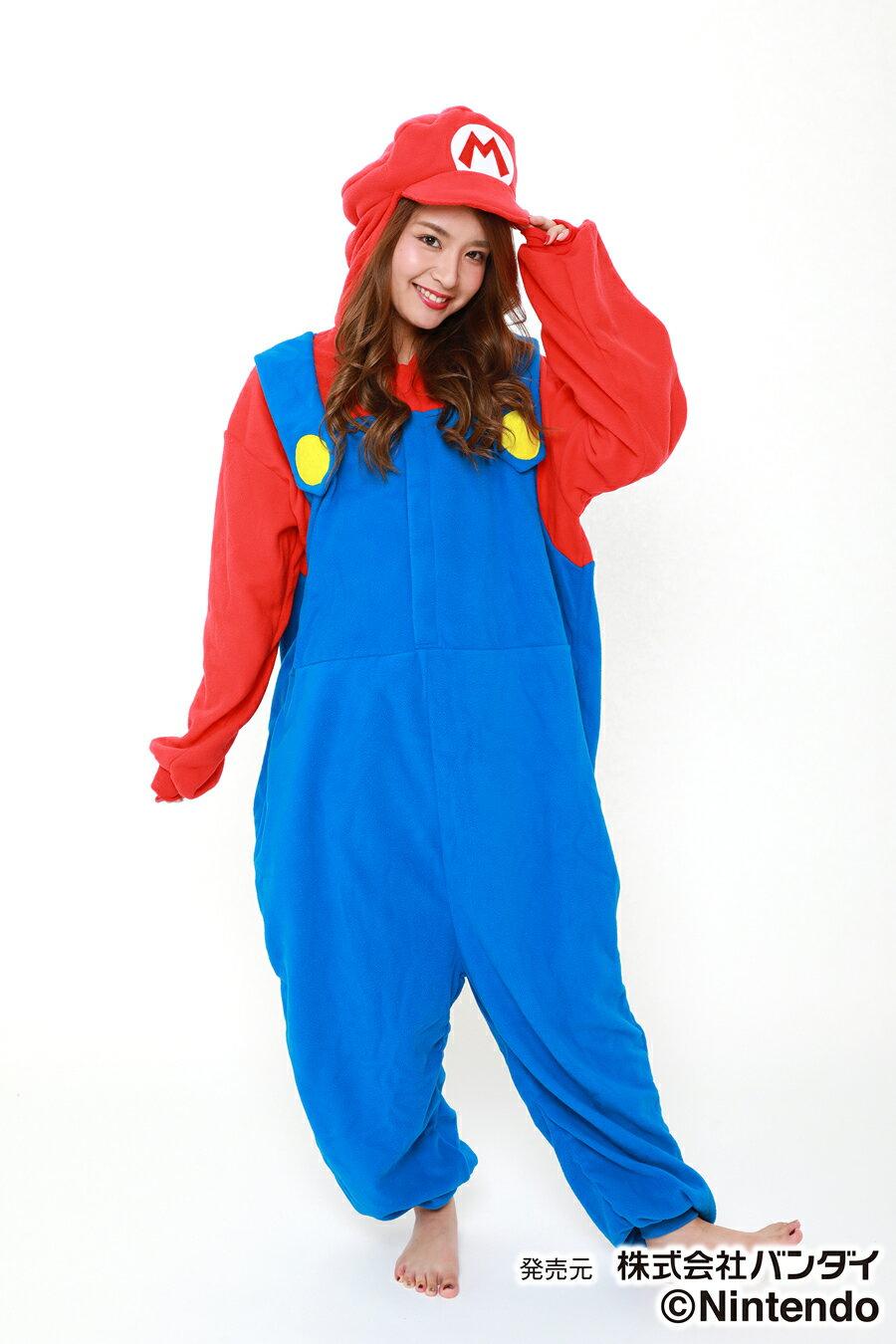 着ぐるみ マリオ (フリース) SAZAC コスプレ パーティー衣装 スーパーマリオブラザーズ画像