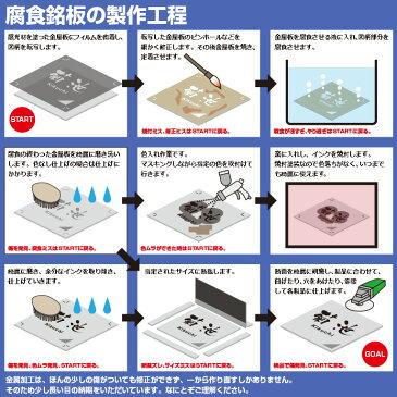 防犯カメラプレート[正方形](ステンレス製)腐食・焼付塗装の本格的銘板仕様のプレートです。(5,000円以上お買上げで送料無料)