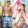 あす楽 送料無料 ペアルック 水着 男女4点セット レディース メンズ ブラ ショーツ ショートパンツ サーフパンツ 韓国ブランド SHEBEACH BIBIANA BIKIN BIBIANA SHORTS (COUPLE) シービーチ 正規品 カップル 女性 男性 お揃い
