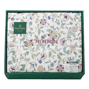 MINTONの豪華な花柄の羽毛肌布団です。MINTON ミントン 羽毛肌布団 ピンク
