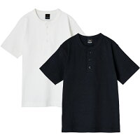 ヘンリーネック Tシャツ 半袖