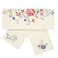 小袋帯【花刺繍小袋帯】