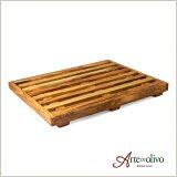 [Arteinolivo] オリーブウッドのブレッドカッティングボード(2ピース構造)/Lサイズ