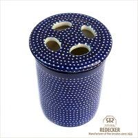 [REDECKER/レデッカー]陶器の歯ブラシスタンド/ドットパターン