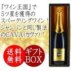 送料無料 ワイン ギフト スパークリング 1本 ビニャ・サン・ホセ カバ CAVA カヴァ ギフトボックス付き
