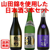日本酒 地酒 送料無料 山田錦使用3本セット720ml 飲み比べ 3本セット 山田錦 大吟醸 純米大吟醸